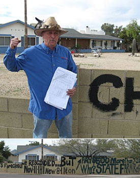 Scottsdale messy yard cops paint over owners graffati - Scottsdale messy yard cops screw Wayne Rozdolski